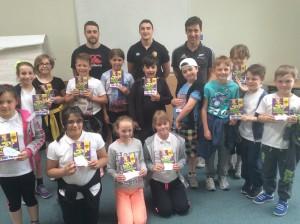 Visit to Conwy schools